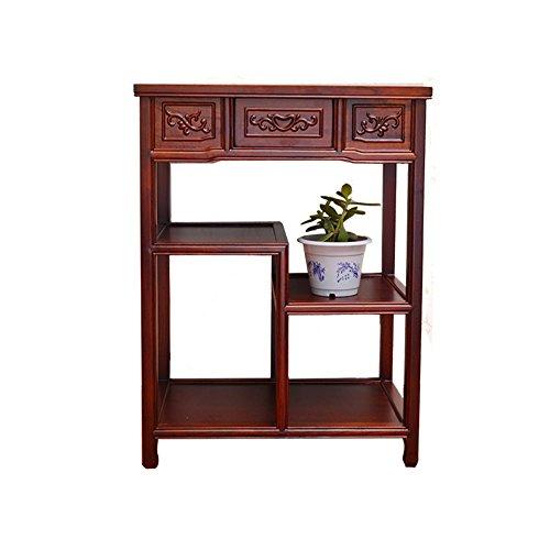 WYYY Klassischer Chinesischer Blumenstand Elm Meal Seitenschrank Massivholz Mehrschicht-Lagerschrank Kleiner Teeschrank Küchenschrank Mikrowellenschrank
