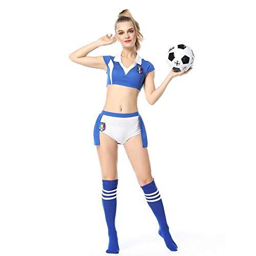 WEII Sexy Kleidung Sexy Fußball Cheerleading Split Taille Fußball Baby Kostüm Hot Sexy Suit,Bild,XL