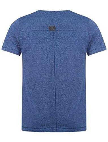 Dissident Herren Grinner V-Ausschnitt Basic T-Shirt Größe S- XL Navy Blau