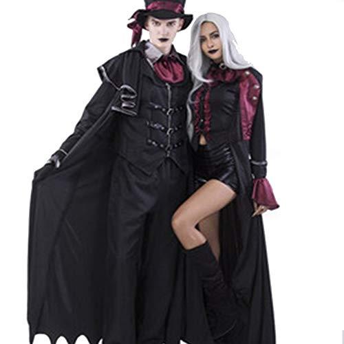 TUWEN Halloween Vampir KostüM Ghost Festival Horror Magier Leistung KostüM Geist Mantel Mantel Vampir Paar Cos KostüM