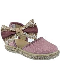 Zapato de Tejido Tipo Lino Ceremonia en Color Rosa Palo y Piso de Yute