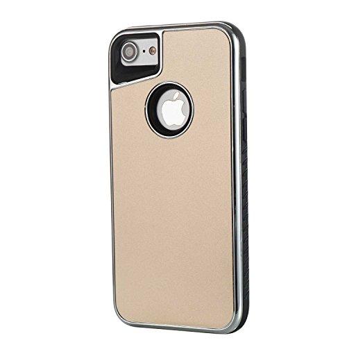 Cover Apple iphone 8 / 7, Alfort 2 in 1 Custodia Protettiva Placcatura Scrub Shell Alta Qualità Case PC + TPU Moda Semplice ( Oro rosa ) 4,7 pollici Oro