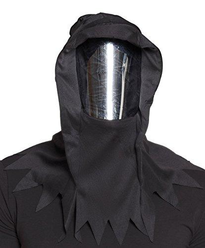 een Kostüm Horror Maske Spiegel Gesicht Erwachsenen Maske, Schwarz (Halloween Verbrannten Gesichts-make-up)