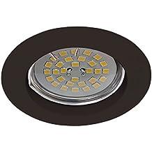 Wonderlamp W-E000031 Basic Basic - Foco empotrable redondo fijo, color negro [Clase de eficiencia energética A+]. Ojo de buey para techo
