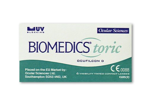 Biomedics Toric Monatslinsen weich, 6 Stück/BC 8.70 mm/DIA 14.50 CYL -1.75 / ACHSE 110 / -1.75 Dioptrien