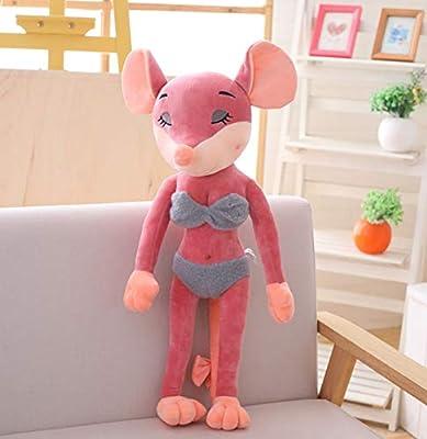 WHKJ Año de la Rata Mascota Pareja Sexy Ratón Muñeca Peluches Niños Creativos Muñecas reconfortantes Navidad Día de San Valentín Regalo de cumpleaños 50cm por WHKJ