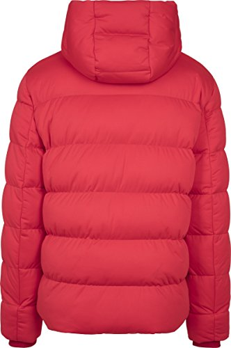Urban Classics Herren Jacke Hooded Boxy Puffer Jacket Rot (Fire Red 00697)