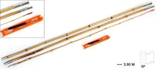 14295 Bambus Steck Stipprute Rute Angelrute Set 3.90m
