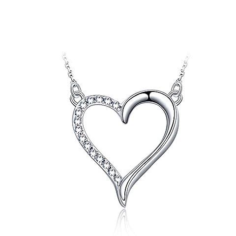 Mme court925 bijoux de mode/Coréen en forme de coeur pendentif/ bijoux-A