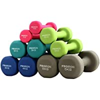 PROIRON Neoprene Dumbbell Home Exercise for Ladies Kids Arm Hand Weights Pilates Dumbbells in 1kg 1.5kg 2kg 3kg 4kg 5kg 8kg 10kg Pair