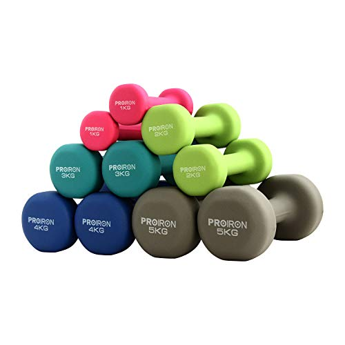 PROIRON Neoprene Dumbbell (Light...