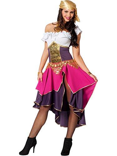 Zigeunerin Kostüm Damenkostüme Damen Karneval Fasching Kleid Bandana ()