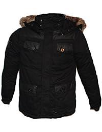 Tisey®F-4 Herren Winter-Jacke gefüttert Jacke Mantel Daunenjacke sky jacke winterjacke herren winter jacke