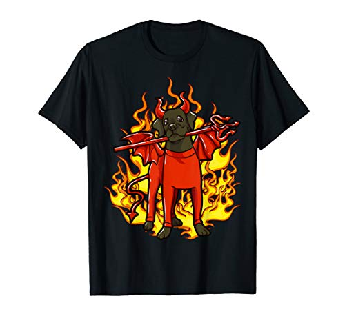 Kostüm Rottweiler - Rottweiler in Devil Halloween-Kostüm T-Shirt