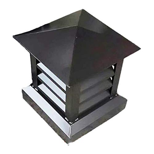 COMIGNOLO Verniciato Polvere Chimney Cowl Piazza Lega di Alluminio Tappo di Scarico del Tetto Tappo di sfiato Pioggia feritoia cap Antivento cap