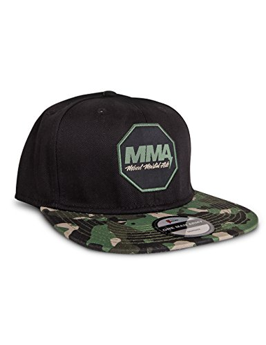 ONE MAN ARMY MMA Mixed-Martial-Arts Snapback Cap, schwarz-camo, unisex, größenverstellbar (Fit Camo Flex Hut)