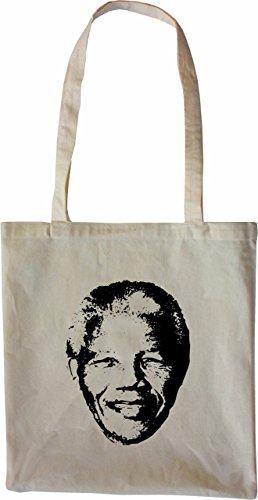 Mister Merchandise Tasche Nelson Mandela Stofftasche , Farbe: Schwarz Natur