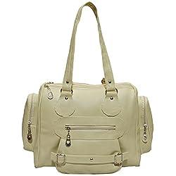 Frenchxd Brooklynn Hazel Fancy Stylish Handbag for Women (Beige)
