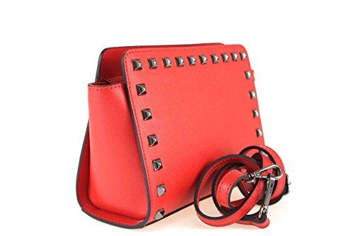 Borse a Tracolla e Zaini Sophie Beauty in Vera Pelle, Made in Italy Rosso