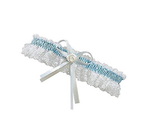 BrautChic XL XXL Ivory Bridal Wedding Garter - PLUS SIZE