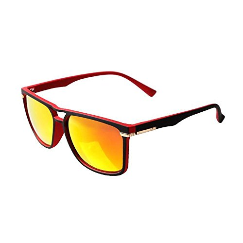 Sonnenbrillen Polarisierten Sonnenbrillen Frauen Männer Sonnenbrille Bunte Film rundes Gesicht Box Retro Tide Schütze Deine Augen (Farbe : B)