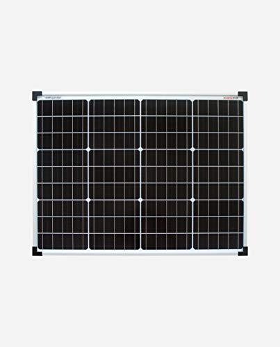 enjoysolar® Monokristallin 24V Solarmodul Solarpanel ideal für Garten Wohnmobil Caravan ... (50W/24V)