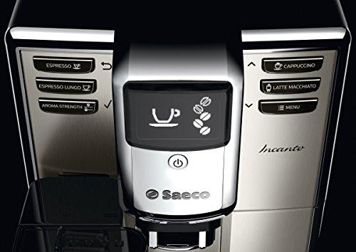 Saeco HD8917/01 Incanto Kaffeevollautomat (1850 Watt, AquaClean, integrierte Milchkaraffe) silber - 4