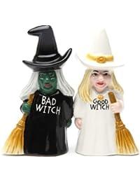 Salero y pimentero Set – bruja buena bruja mala Regalos de cerámica ...