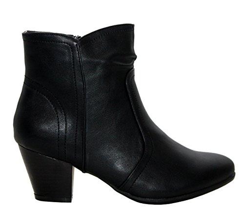 A&H Footwear ,  Mädchen Damen Chelsea Boots Black/Ethel