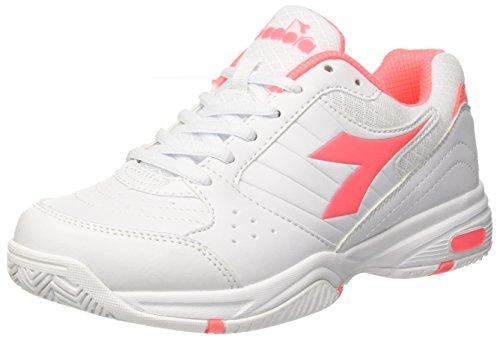 Diadora Smash W, Scarpe da Tennis Donna, (Bianco Rosa Sciacca), 36.5 EU