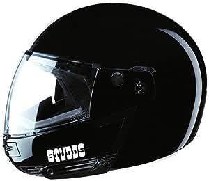 Studds Ninja Pastel Plain SUS_NPPFFH_BLKXL Full Face Helmet (Black, XL)