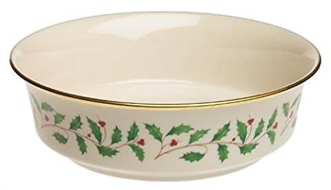 Lenox Holiday Gold-Banded Fine China Serving Bowl by Lenox