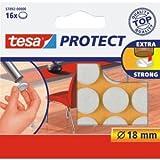 tesa 20 x Filzgleiter Protect Durchmesser 18mm rund weiß