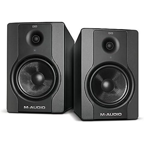 M-Audio BX5 D2 Pareja - Monitores activos profesionales de referencia para la producción musical, grabación y mezcla