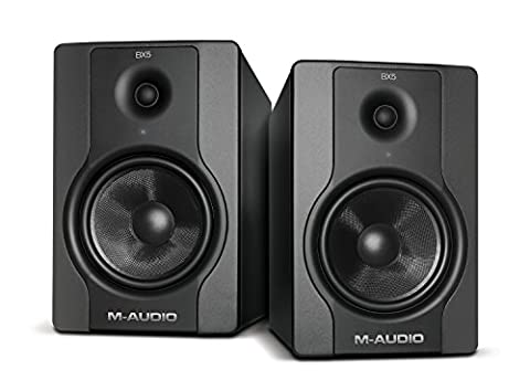 M-Audio BX5 D2 Compact 2 Way Active Studio Monitor Speakers (for Music Production and Mixing, 5 inch),