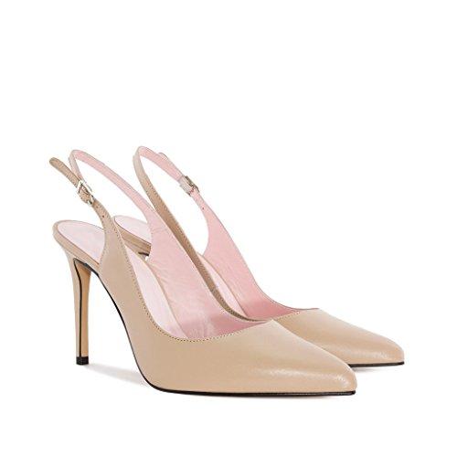 EDEFS Damen Slingback Pumps,High Heel Übergröße Damenschuhe,Schuhe mit Hohen  Absätzen Beige ...