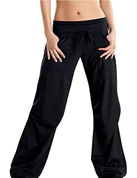 GWinner Pantalones Largos de Deporte para Mujer, Ideal para Hacer Ejercicio y el Ocio, con Cintura Elástica Ancha...