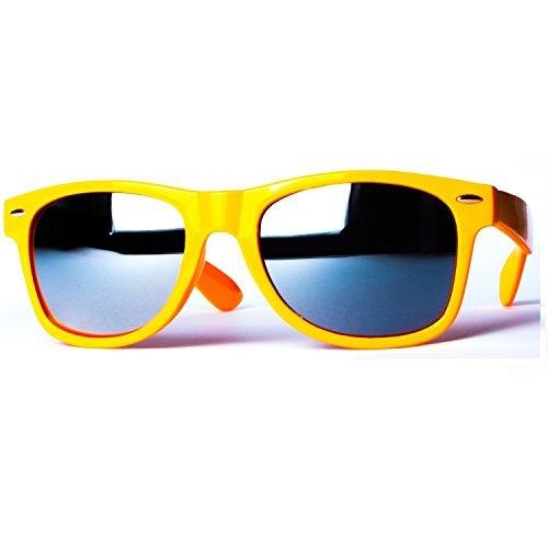 Sonnenbrille Nerdbrille retro Art. 4026-22 hell orange / silber verspiegelt