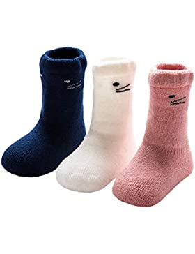 ANIMQUE Baby Winter Socken Dicke Cartoon Tiere 0-36 Monate Neugeborene Kleinkind Jungen Mädchen Baumwolle Söckchen...