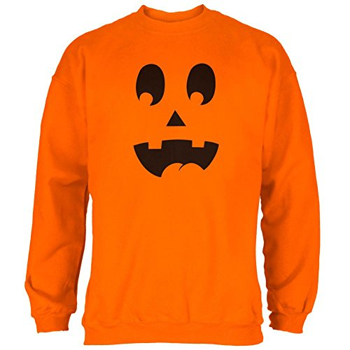Old Glory Halloween Jack-O-Lantern Kostüm überrascht Gesicht Mens Sweatshirt Safety Orange SM (Halloween Gesichter Jackolantern)