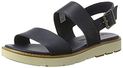 Timberland Women's Bailey Park Slingbackblack Iris Discover Wedge Heels Sandals, Black Iris Discover, 7