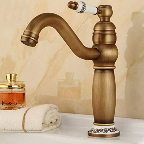 Deck Mount Soap (Wasserhahn Waschbecken Faucet Brass Tap Rose Gold Basin Faucet Taps Sink Ceramic Single Lever Hole Deck Mount Hot Cold Mixer Water Cock)
