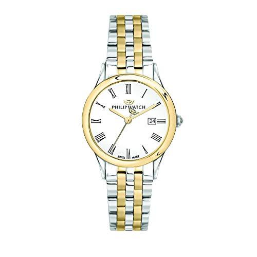Philip Watch Orologio da donna, Collezione Marilyn, con movimento al quarzo e funzione solo tempo con data, in acciaio e PVD oro giallo - R8253211503