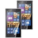 Muvit MUSCP0369 Pack de 2 Films de Protection d'Ecran pour Nokia Lumia 925 Anti Trace 1 Laqué/1 Mat