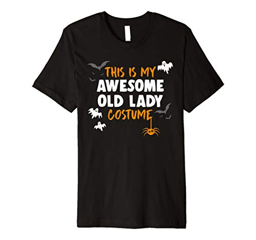 (Awesome Old Lady Costume Shirt, Funny Old Lady Halloween Gif)