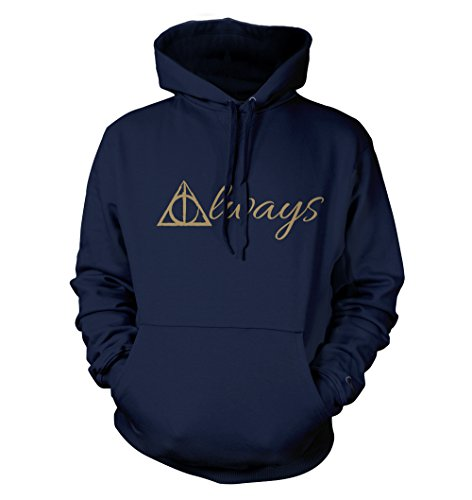 net-shirts Always Hoodie Kapuzenpullover mit Aufdruck Inspired by Harry Potter, Größe S, Navy
