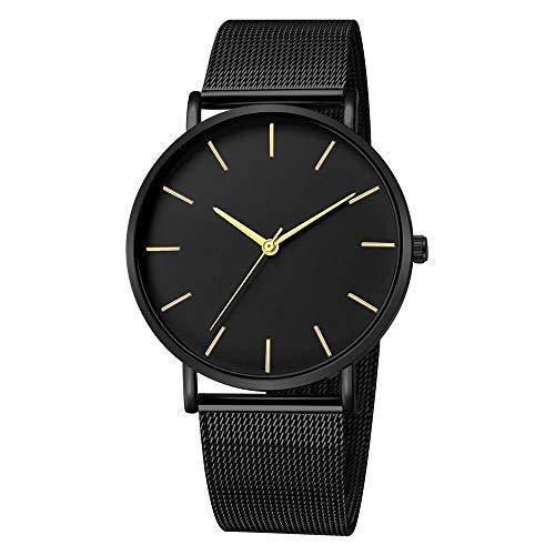 Quartz Uhren für Herren, Skxinn Männer Armbanduhr Zifferblatt Analog Business Minimalistische Quartz Armbanduhren mit Edelstahl Band Ausverkauf(H,One Size)
