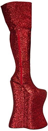 Devious, Stivali uomo Rosso (Red-Gold Glitter)