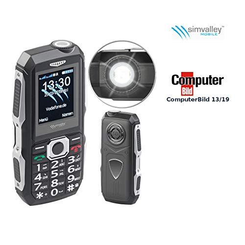 Simvalley Mobile Handys: Stoßfestes Outdoor-Handy, Dual-SIM-Funktion, Bluetooth, FM-Radio, IP67 (Dual-SIM-Handy wasserdicht) Microsd-mobile Xt