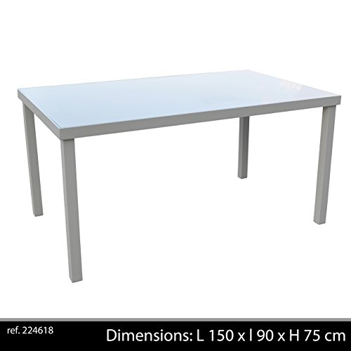 Table Aluminium/ Verre, Taupe